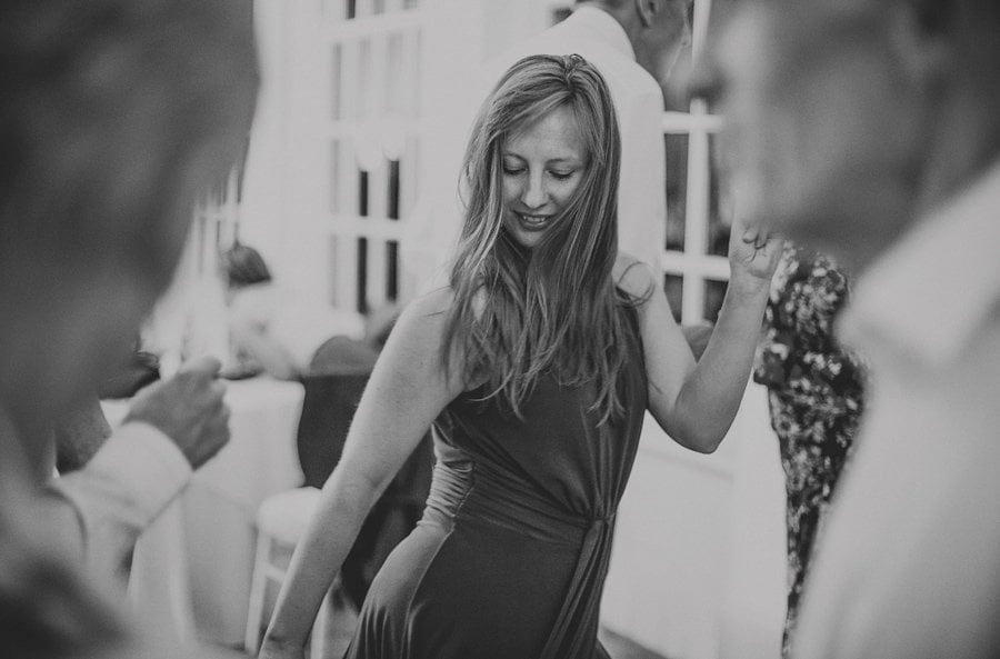 A lady on the dancefloor at Goldney Hall