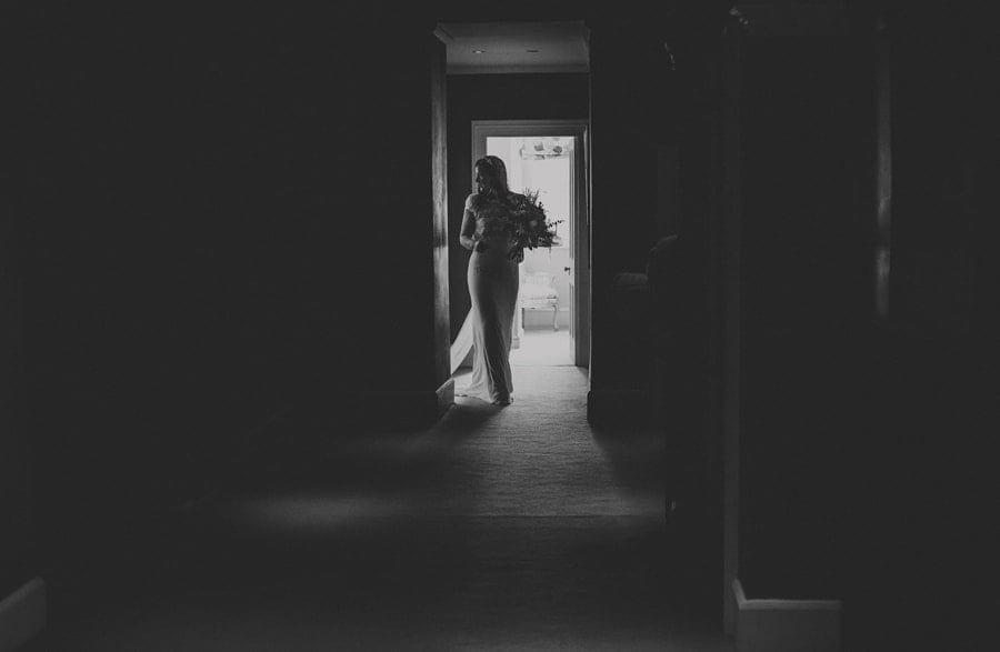 The bride leaves the bridal suite at the Matara Centre at Kingscote Park