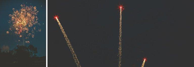 Fireworks light the evening sky up above the Matara Centre at Kingscote Park