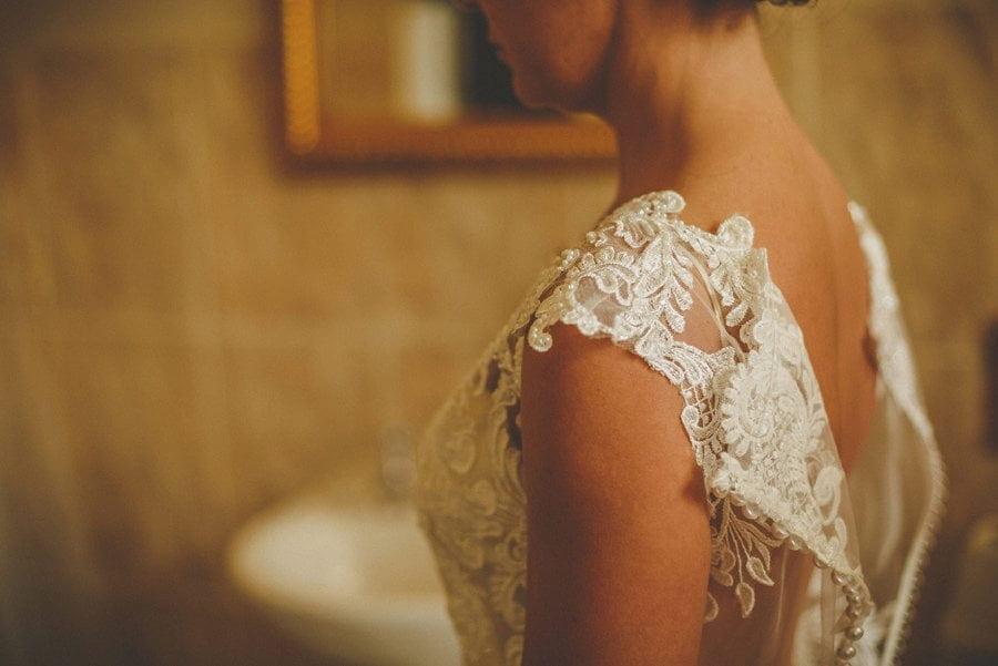 The brides dress