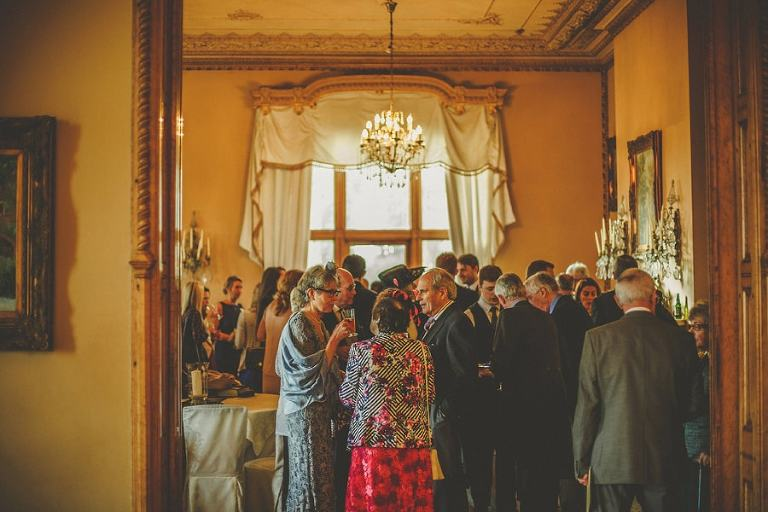 Wedding guests at Orchardleigh House