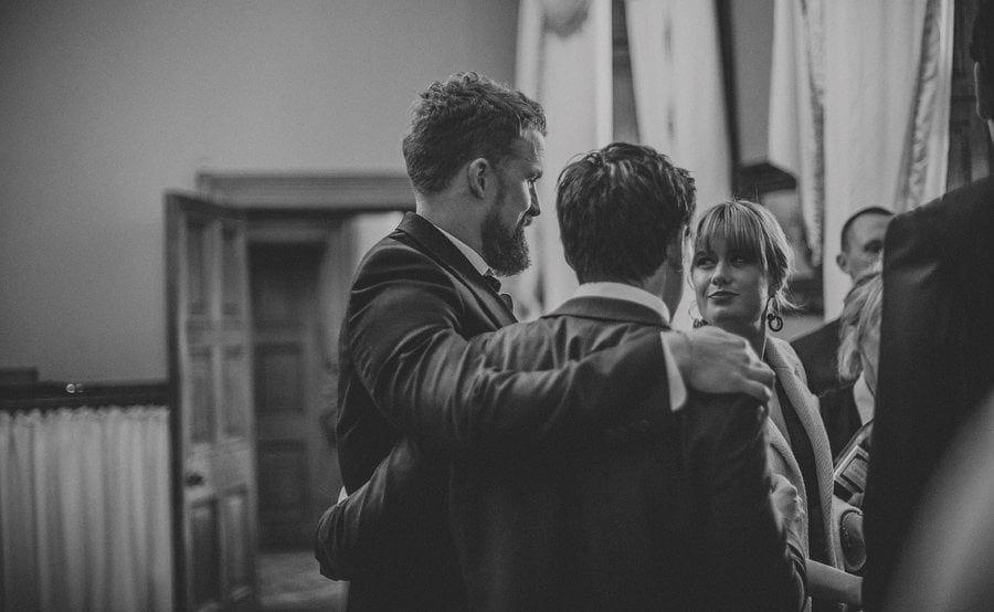 Wedding guests at Orchardleigh House in Frome