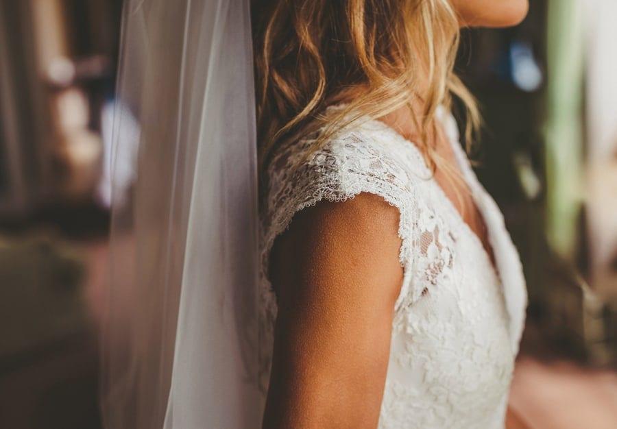 The brides dress at Stubton Hall