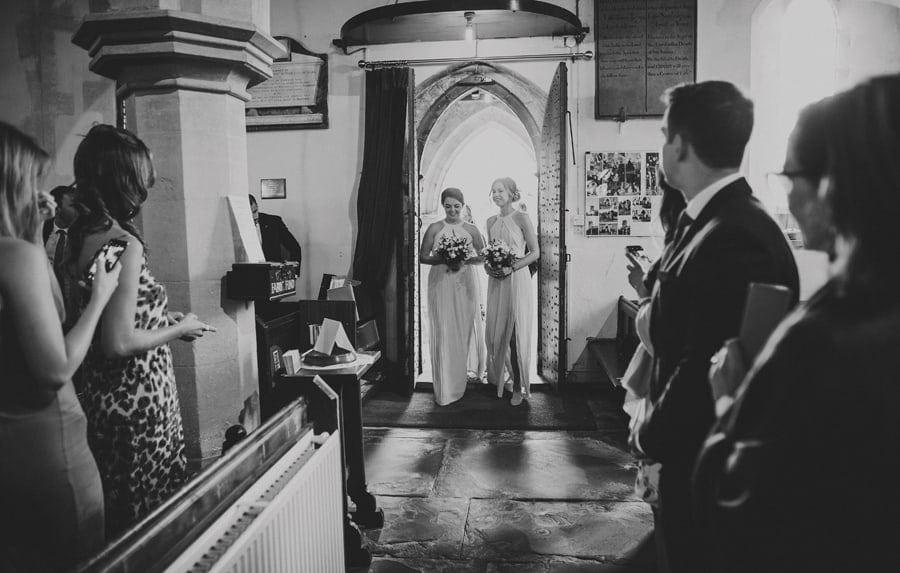 Bridesmaids enter the Church
