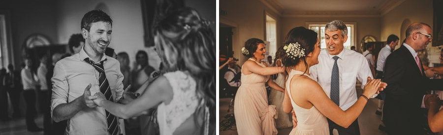 Wedding guests dancing at Stubton Hall