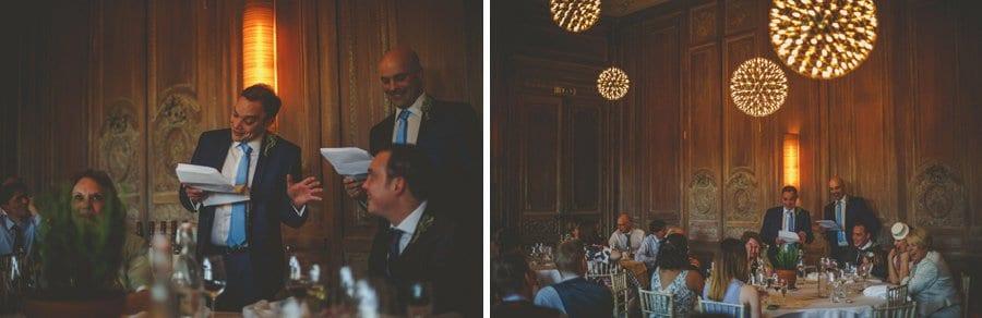 The best men deliver their wedding speech in front of wedding guests