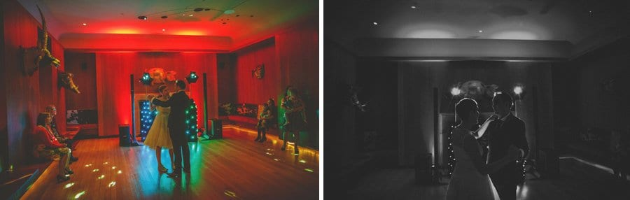 The bride and groom dancing on the dancefloor at Cowley Manor