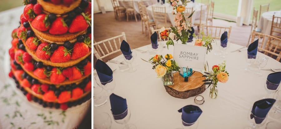 The wedding cake and table