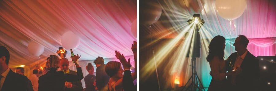 Wedding guests on the dancefloor at Longstowe Hall in Cambridgeshire