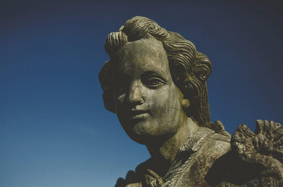 A statue in the gardens at Micklefield Hall
