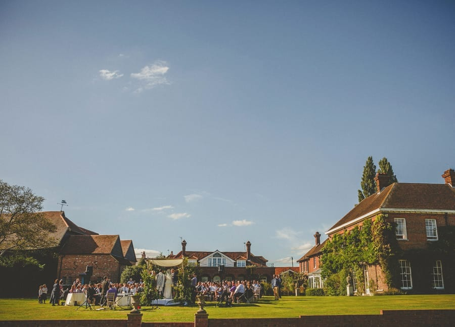 The outdoor wedding ceremony at Micklefield Hall