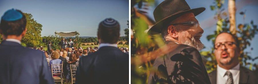 The outdoor wedding ceremony begins