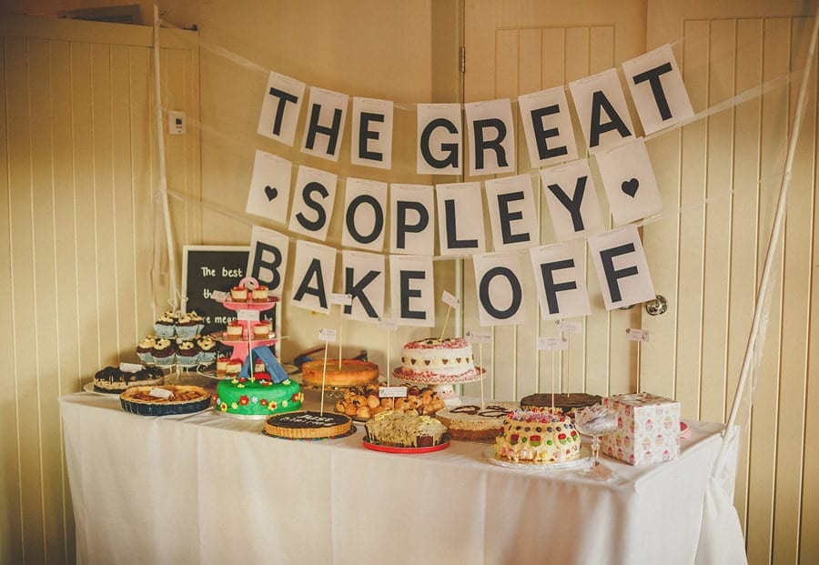 Home made cakes on a table at Sopley Mill