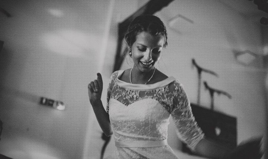 The bride dancing on the dancefloor