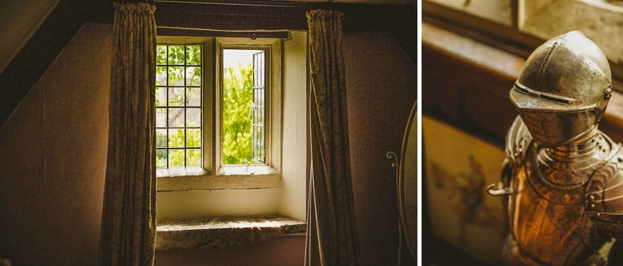 The window in one of the bedrooms at Abbey House Gardens