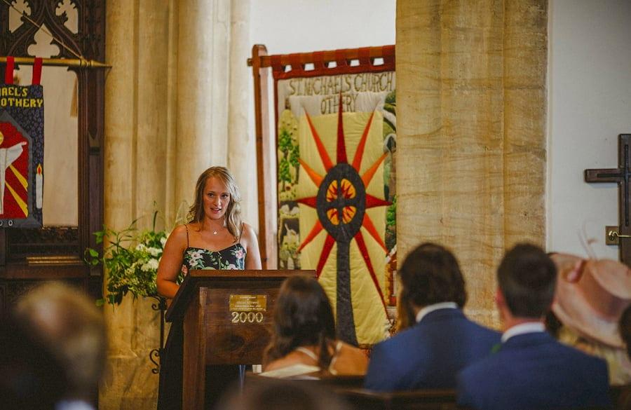 A speech in the church