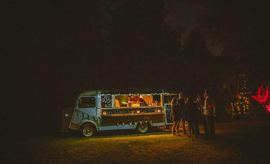 The cocktail van in the garden of the wedding