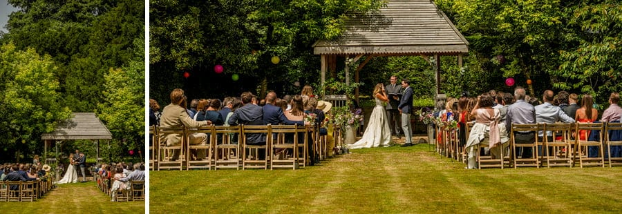 The outdoor ceremony at Pennard house, Somerset